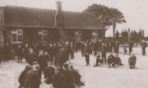 Standon Staffordshire Church Of England Society School Playground Games Postcard