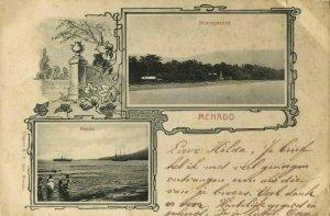 indonesia, CELEBES SULAWESI MANADO, Beach Scene (1899) Postcard