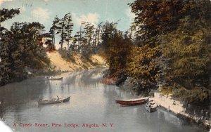 Creek Scene Angola, New York Postcard