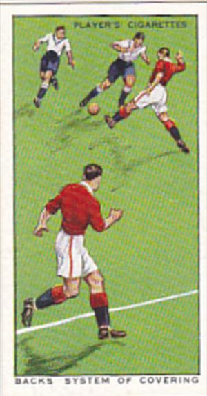 Cigarette Card Player Association Football Hints 1934 No 38 Backs System Of C...