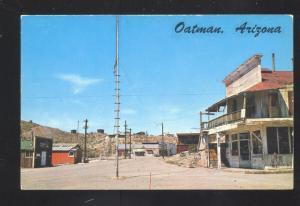 OATMAN ARIZONA ROUTE 66 DOWNTOWN STREET SCENE VINTAGE POSTCARD STORES