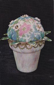 Fleur-Allure Hideaway, Vanity Accent, Pincushion, Gift-Craft, National Handcr...