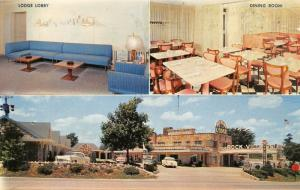 Springfield Missouri~Rock Village Lodge~Route 66 Motel~Diner~1950s Cars~Postcard