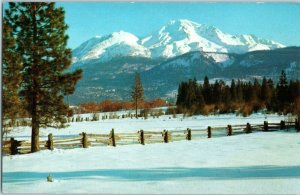 Mt Shasta Northern California Snow Covered Mountains Hwy 97 and 99 Postcard