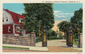 SALISBURY, North Carolina, 10-20s ; Entrance to National Cemetery