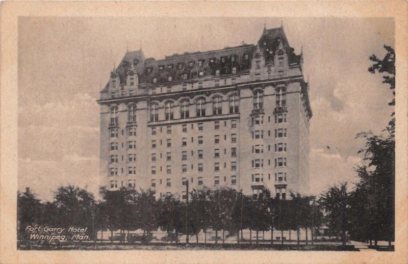 WINNIPEG MANITOBA~FORT GARRY HOTEL~THE HELIOTYPE COMPANY PUBLISHED POSTCARD 1921