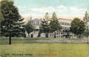 Concord New Hampshire~Odd Fellows Home on Hilltop~Double Porch~1910 Postcard