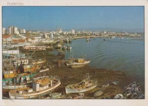 Portimao Portugal Fishing Boat Vessels Postcard