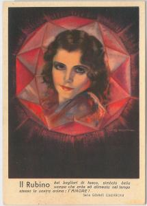 53178 -  VINTAGE POSTCARD - GLAMOUR \ ADVERTISING - PRECIOUS STONES: Ruby