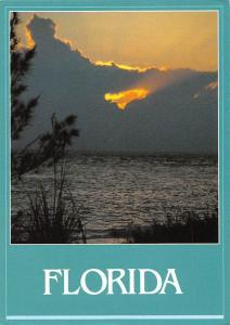 USA Florida Lake Clouds Sunset Landscape