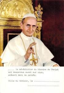 Pope Paul, Paulus P.P. VI la benediction du Vicaire de Christ