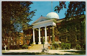 Mexico Missouri~Cannon & Mailbox @ Military Academy Admin Building RPPC 1950s PC
