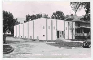 Masonic Temple Sibley Iowa 1950c RPPC real photo postcard