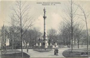 C-1905 Soldiers Monument Common Manchester New Hampshire 12872 Metropolian