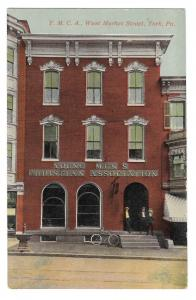 York PA YMCA Building Young Mens Christian Assoc West Market St Vntg Postcard