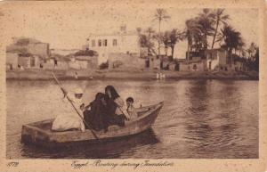 Boating During Inundation, Egypt, Africa, 1900-1910s