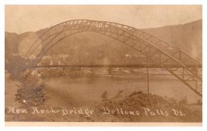 Vermont  Bellows Falls ,  New Arch Bridge , RPC