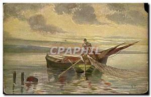 Postcard Fancy Old Fisherman