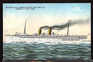 Steamer Yale Metropolitan Steamship Co. NY to Boston Ship Ocean Liner Postcard