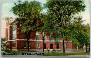 Athens, Ohio Postcard Training School, OHIO UNIVERSITY J. Bouton Co. 1916