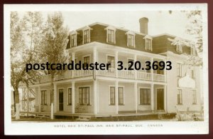 3693 - BAIE ST. PAUL Quebec 1930s Hotel. Real Photo Postcard