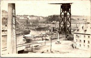 RARE - Brest France 1900s - Military Navy Yard  RPPC Photo Postcard AZO