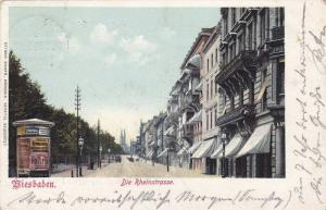 Die Rheinstrasse, Street View, Wiesbaden (Hesse), Germany, PU-1900