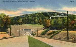 PA - Pennsylvania Turnpike, Entrance to Tunnel
