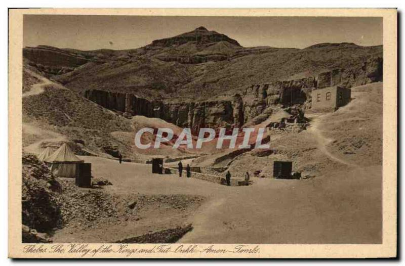 CPA Egypt Egypte Thebes The valley of the kings
