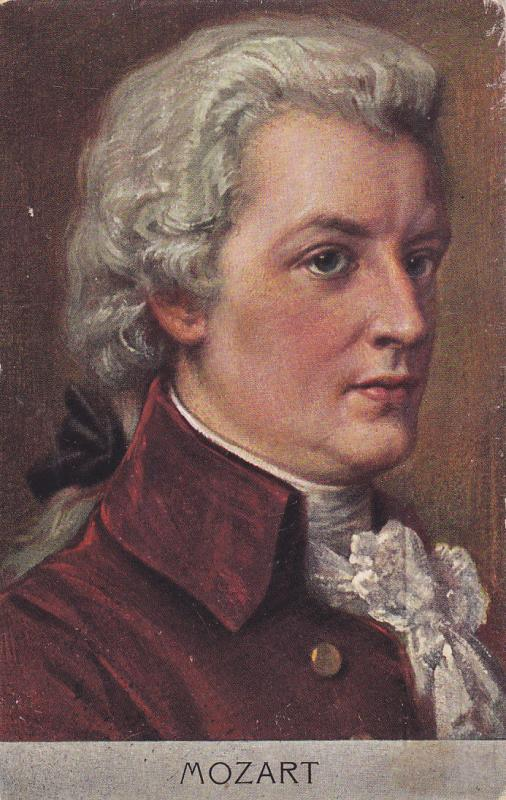 Wolfgang Amadeus Mozart, PU-1904; Prolific & influential composer, Classical era