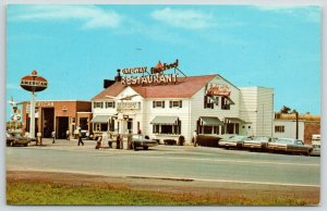 Breezewood Pennsylvania~Snyders Gateway Restaurant~American Gas Station~1960s