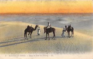 Vintage 1909 Postcard Scenes et types, Dunes de Sable du Sahara, Algeria #A