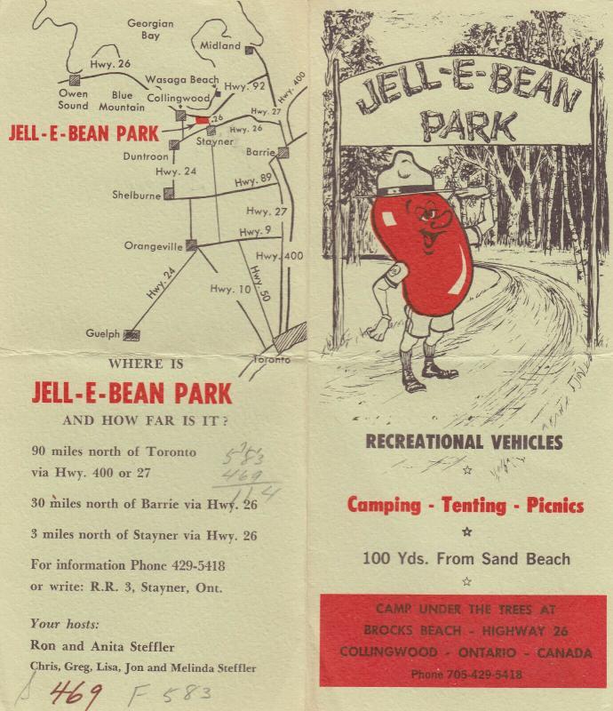 COLLINGWOOD , Ontario , 1920-40s ; JELL-E-BEAN Park Handout