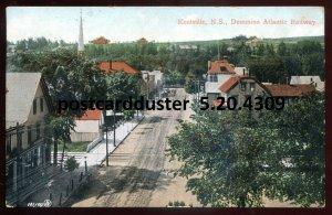 4309 - KENTVILLE NS Postcard 1909 Street View. Dominion Atlantic Railway