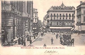 Bruxelles Belgium, Belgique, Belgie, Belgien La Place de la Monnaie et la Rue...