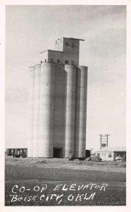 Boise City Oklahoma Co-Ep Elevator Real Photo Vintage Postcard AA29254