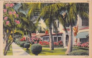 Florida Fort Lauderdale Lovely Homes And Palm Shaded Street In Fort Lauderdal...