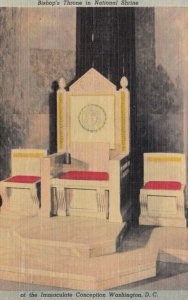WASHINGTON DC, 1930-40s; Bishop's Throne in National Shrine of the Immaculate...