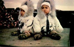 Alaska Eskimo Twins In The Arctic Region