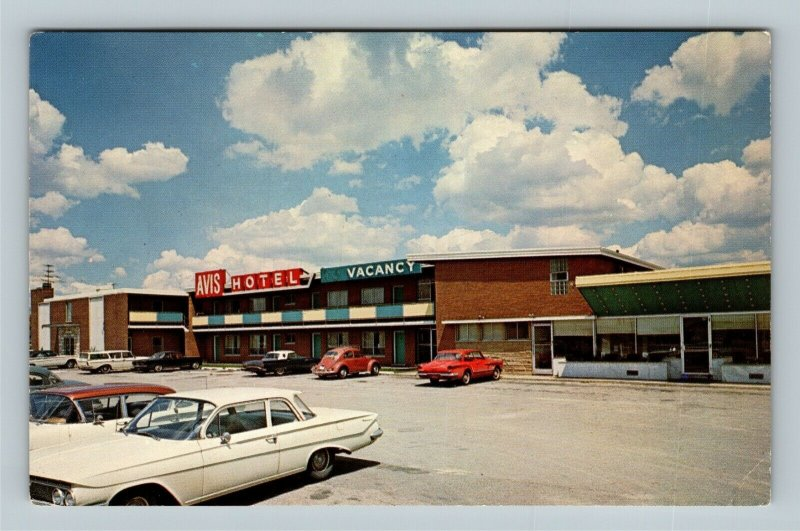 Chicago IL, Avis Hotel, Chrome Illinois Postcard