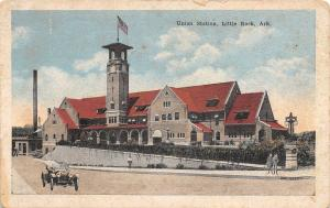 Little Rock AR Vintage 1920s Automobile~Italianate Union Railroad Station As Is