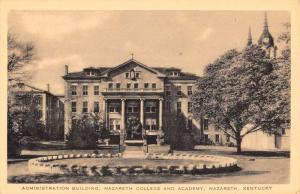 Nazareth Kentucky College Admin Building Antique Postcard K77338