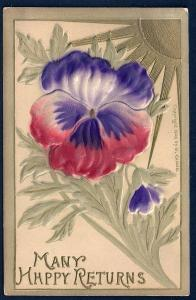 Red & Violet colored Flower used c1910's