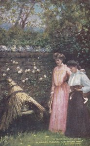 A Quiet Summer Space Of Garden Flowers And Toiling Bees, TUCK No.9032, 1900...
