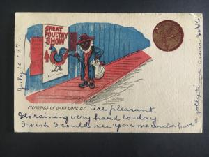 1907 Gainesville Texas Postcard Cover Black Americana Poultry Show Thief Memorys