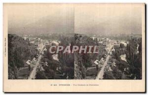 Stereoscopic Card - Pyrenees - Vue Generale Pierrefitte - Old Postcard