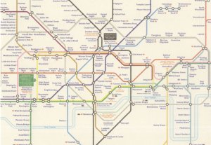 London Tube Map Underground Train Postcard