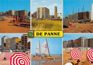 Belgium Greetings from De Panne multiviews Beach General view Plage Strand