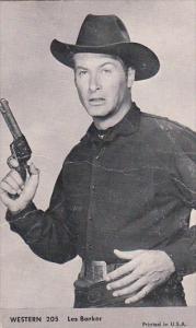 Vintage Cowboy Arcade Card Les Barker