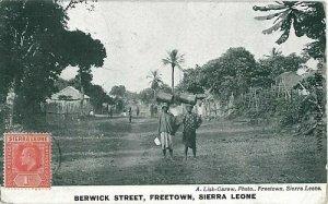 VINTAGE POSTCARD: SIERRA LEONE: FREETOWN